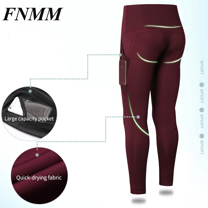 01b02ad9e20e68 Push up Women Yoga Pants Sports Running Sportswear Stretchy Fitness  Leggings Gym Compression Tights Pants with mesh pocket 2018