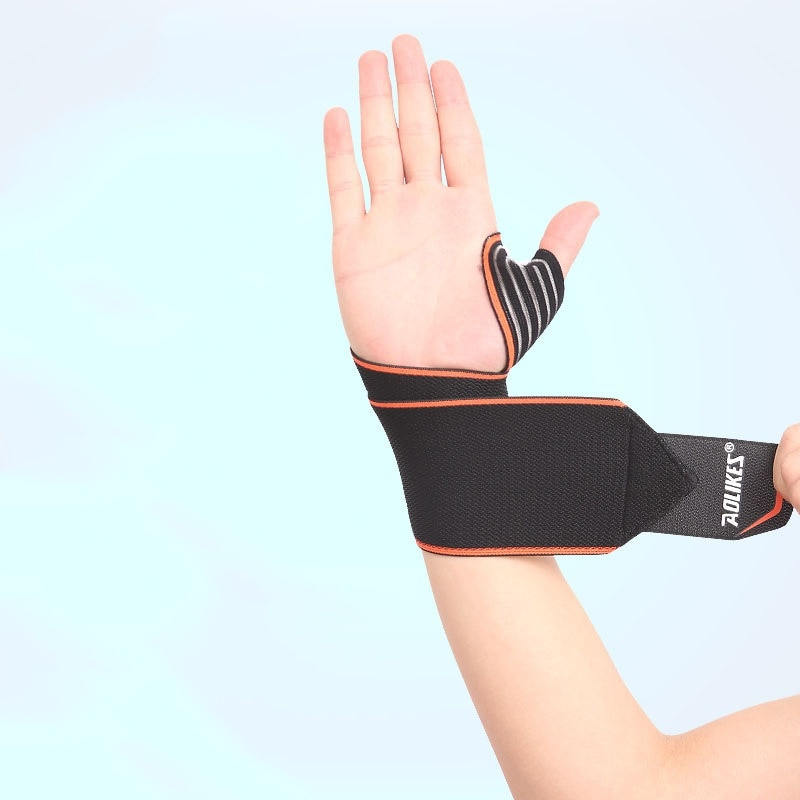 AOLIKES 1pc Sports Wrist Band Wrist Support Strap Wraps Hand Sprain Wraps  Bandage Fitness Training Safety Hand Bands